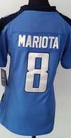 baseball titans - Women NIK Game Football Stitched Titans Blank Marcus Mariota Light Blue White Dark Blue Jerseys Mix Order