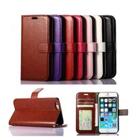 Wholesale Wallet PU Leather Case Cover Pouch with Card Slot Photo Frame for iPhone PLUS Galaxy S6 S7 note case cover
