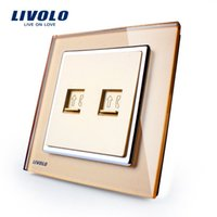 Wholesale Manufacturer Livolo Multi function Socket Luxury Crystal Glass Panel gang Wall Socket for Telephone VL W292T Tel