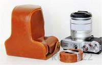 Wholesale Brown Leather Camera case bag for Fujifilm Fuji X M1 X A1 X A2 XM1 XA1 XA2F