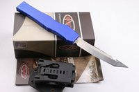 Automatic Knives aluminum limited edition - 2016 Limited Edition Microtech Halo V Tanto Knife quot Satin single blade EDC Pocket Knife Hunting Knife Camping Knives F12L