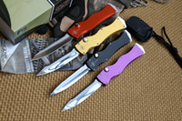 Wholesale Liangjiang newest Marfione Microtech HALO IV Rev III S N Elmax blade material aluminum handle camping hunting knife survival tool EDC