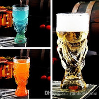 beer trophy - Creative Football World Cup Trophy Style Beer Beverage Glass Cup Crystal Champagne Wishkey Wine Drinking Mug Glasses Cups Retail Box ML