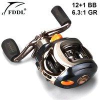Wholesale Righthand Water Drop Fishing Reel Wheel BB Ball Bearing Gear Ratio Metal Water Drop Wheel Bait Casting Water Drop Reel
