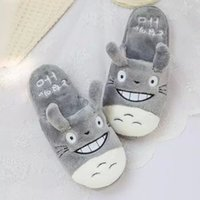 bedroom shoes - Totoro Cute Cat Cartoon Animal Women men Couples Homen Slipper For Indoor House Bedroom Flats Comfortable Warm Winter Shoes