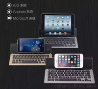 android keyboard tab - Portable Foldable Wireless Bluetooth Keyboard Ultraslim Mini for iOS Android Windows other Smartphones PC Tablets Aluminum Alloy