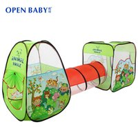 best kids play tent - Open Baby New Arrive Child Tunnel Game House Large Baby Kids Crawling Ocean Ball Pit Pool Green Best Quality Play Toy Tent
