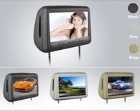 Wholesale 2x10 quot HD headrest car dvd wire HDMI USB SD FM IR Game Remote control OSD lang AV digital panel TOUCH key support HD format