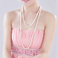 Wholesale Han edition style knot Pearl necklace long multilayer contracted fashion sweater chain joker cheongsam deserve to act the role of chun xia