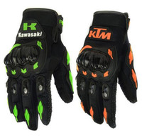 Wholesale 2016 Outdoor Cycling sport gloves Men s Full Finger Gloves Kawasaki KTM Motorcycle Cycling Gloves for Men