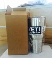 Wholesale Cool YETI oz oz Drop shipping Cups YETI cooler Rambler cup Vacuum YETI Hot Sale YETI Rambler Bilayer Stainless