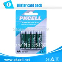 Wholesale 5Pack PKCELL Carbon Zinc Dry Battery R6P V AA Battery A Bateria Baterias battery powered battery charger