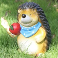 Wholesale Resin Crafts Garden Sculpture Cartoon Hedgehog Outdoor Garden Landscaping Animal Ornament Home Patio Decor Gift