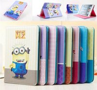 anime ipad case - Cute Anime Despicable Me Minions Smart PU Leather Stand waterproof tablet Case Cover Skin For ipad mini ipad2 ipad pro