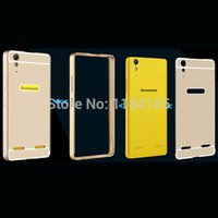 aluminum guitar case - acrylic guitar Shock Proof Super Slim Premium Aluminum Metal Frame amp Acrylic Back Cover Case for Lenovo K3 Lenovo A6000 A6010