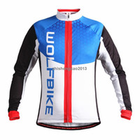 Wholesale WOSAWE Thin Fleece Mountain Bike Jersey Bicycle MTB Breathable Clothing Long Sleeve Shirt Cycling Jersey camisa ciclismo