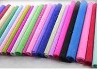 venda por atacado gift wrapping-90 folhas / lote papel de tecido colorido papel de embalagens de material de embalagens de papel de embalagens de papel da flor presente papel livre