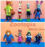 Wholesale Zootopia design toys New Crazy animal City Children cartoon Nick Wilde Judy Hopps PVC minifigures toys Dolls ZF