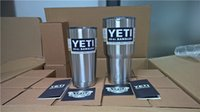 Wholesale YETI oz Cup Cooler YETI Rambler Tumbler For Travel Vehicle Beer YETI Mug Tumblerful Bilayer