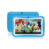 Wholesale New Design Inch Kids Tablets pc WiFi Quad core Dual Camera GB Android4 Children s favorites gifts tablet