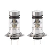 Wholesale 2pcs H7 W High Power COB LED Car Auto DRL Driving Fog Tail Headlight Light Lamp Bulb White V car styling