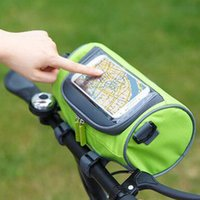 Wholesale Touchscreen Bicycle Pack Water Resistant Nylon Bicycle Front Top Frame Tube Handlebar Bag Smartphone Storage Holder