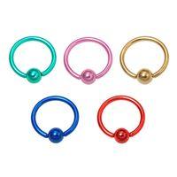 Wholesale g Titanium plated Captive Bead Rings Unisex Body Jewelry Nose Nipple Lip Eyebrow Tongue Rings