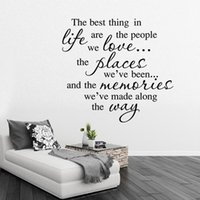 Wholesale high quality Fashion Waterproof English Proverb Wall Decal for Living Room Background Bedroom Wall Sticker