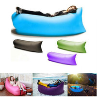 Wholesale Lounger Inflate Air Bed Air Sleep Sofa Couch portable picnic camping chair summer camping beach sleeping bed DHL Free
