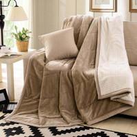 al por mayor tamaño de la reina manta de felpa-2016 King Size Fleece Blanket en la cama / sofá de mantas gruesas de invierno Super suave suavidad manta de franela King / Queen envío gratuito