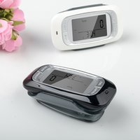Wholesale Hot Sale white D Sensor LCD Display Digital running Pedometer with Day Memory Step Calorie Distance Counter Health Tracker