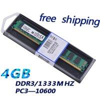 al por mayor fábrica de escritorio-Fábrica venden a estrenar sellado DDR3 4gb 1333 PC10600 RAM de escritorio memoria KVR1333D3N9 / 4G canal dual compatible con INTEL AMD