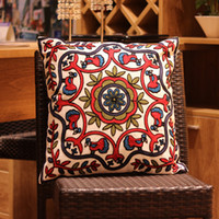 Wholesale 100 Cotton Embroidery Throw Pillow Case Decorative Cushion Cover quot x quot Home Pillows Covers for Couch Chair Bed