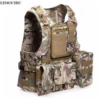 Wholesale Tactical vest outdoor products Camouflage amphibious Counterterrorism Military Protective Training combat Hunting Airsoft MOLLE