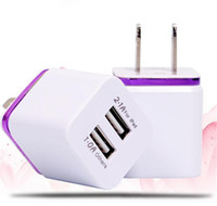 Wholesale For Samsung Galaxy S7 S7Edge Wall Charger A V Universal USB Ac Wall Travel Power Charger Adapter for iPhone Plus S DHL CAB124