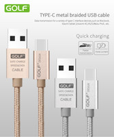 Wholesale Luxury Golf Type C Real USB Metal Alloy Nylon m ft cable fast charge For Samsung Galaxy Note7 OnePlus2 OnePlus3