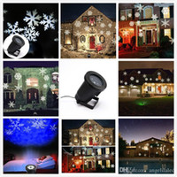 Wholesale Christmas Projector Lamp Holiday Decoration Lawn Lamps Snowflake Night Light Holiday Halloween Birthday Wedding Party Decoration Lamp