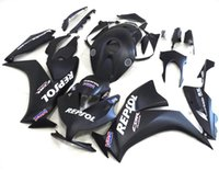 Wholesale 3 Free gifts New ABS bike Fairing Kits Fit For HONDA CBR1000RR CBR RR black matte repsol