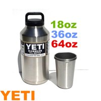 Wholesale Yeti Rambler Tumbler Bottle oz oz oz Stainless Steel Mug oz oz large Capacity With Insulated Leak Proof Cap