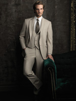 beige blazer jacket - 2016 Spring Men Blazer Silver Men s Suit Groom Tuxedos Grooms Men Mens Suits Traje de Novio Azul Men Wedding Suits Jacket Pants Vest