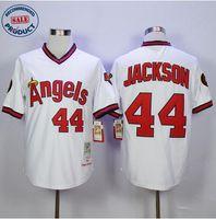 angels baseball shirts - Mens Reggie Jackson Los Angeles Angels Baseabll Jersey stitched Angels jerseys Cool Base new shirt