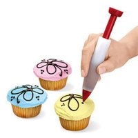 Wholesale Silicone cake decorating pen Cookie Pastry Icing squeeze Decorating Syringe Cream Chocolate Plate tool kitchen accessories