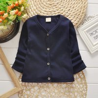 Wholesale children s cotton single breasted long sleeve knitwear boy girl s cotton knitwear