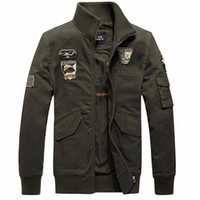 air force aviation - Hot sales Men s Fashion US Air Force Fashion Short Aviation Jacket Cotton Warm Bomber Jacket Men US Army Military Jacket XL