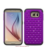 armor painting - for Samsung Galaxy S7 S6 Edge s6 Cell Phone Case Cover paint auger drill pure coloer armor cover strip Shockproof Drop resistant Rugged