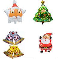 aluminium christmas tree - Christmas Latex Foil Balloon Winter Party Celebration Tree Santa Merry Birthday e Santa Claus Snowman Fun Toys Party Décor LJJK543