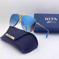 Wholesale Dita sunglasses new dita Decade Two sunglasses women brand designer metal square shape retro men design oversize gold plated