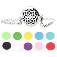 perfume set - lotus flower mm Aromatherapy Essential Oils Stainless Steel Perfume Diffuser Locket bracelet length8 quot include felt pads