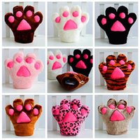 Wholesale New Fashion cat claw gloves Cosplay Accessories Anime Costume Plush Gloves Paw Party gloves B0830