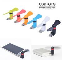 achat en gros de gadgets gifts-Voyage Mini USB Gadget Portable Summer Micro USB Ventilateur universel pour le cadeau d'ordinateur portable Xiaomi Android OTG Smartphones Power Bank